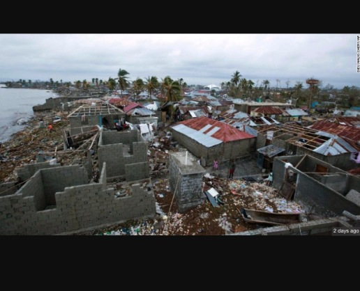 Devastation in Les Cayes after Hurricane Matthew